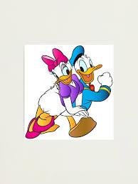 Donald Daisy Duck Be My Valentine Photographic Print By Howardstein3rd Redbubble