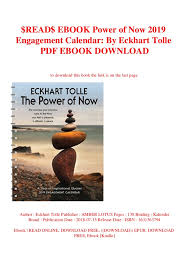 ebook power of now engagement calendar by eckhart tolle p