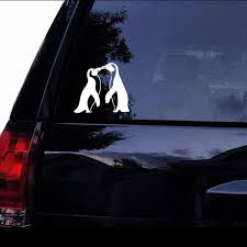 Couple Penguin Car Truck Decal Sticker Window Glass Laptop Black Silver Wish