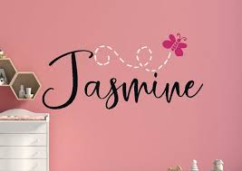 Girls Name Wall Decal Girls Name Decal Custom Name Wall Etsy
