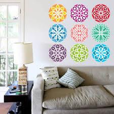 Shop Full Color India Mandala Yoga Ornament Buddha Full Color Wall Decal Sticker Sticker Decal Size 48x48 Frst On Sale Overstock 15301931