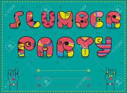 Fiesta De Pijamas De Inscripcion Invitacion A La Fiesta
