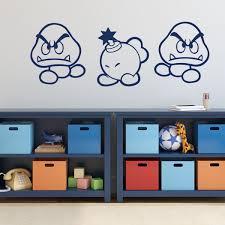 Amazon Com Super Mario Wall Decor Goomba And Bob Omb Vinyl Wall Decal For Boys Room Playroom Video Game Fan Birthdays And Events Handmade