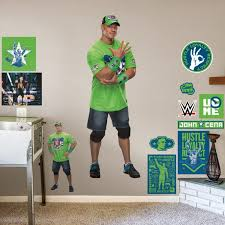 Fathead John Cena Life Size Officially Licensed Wwe Removable Wall Decal Walmart Com Walmart Com