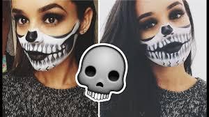 halloween makeup tutorial half skull
