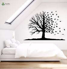 Yoyoyu Vinyl Wall Decal Incredible Fairy Tree Branch Into A Butterfly Natural Bedroom Room Home Decoration Stickers Fd209 Wall Stickers Aliexpress