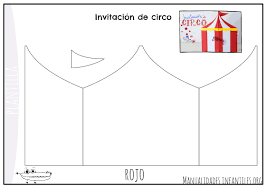 Invitacion Para Fiesta Del Circo Manualidades Infantiles