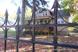 How To Faux Wrought Iron Fence Stolloween Studio Halloween Fence Halloween Outside Iron Fence