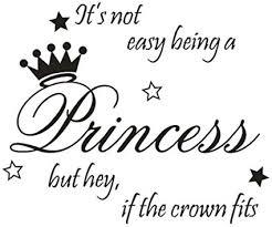 Amazon Com Gocheaper Beautiful Princess Crown Wall Sticker Bedroom Decor Vinyl Decal Die Cut Girl Crown Car Window Baby Art Black Health Personal Care