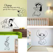 Lilo And Stitch Aloha Pleakley Jumba Sticker Ohana Means Family Means Cartoon Vinyl Wall Decal Art Children Nursery Home Decor Home Decor Wall Decals Stickersvinyl Wall Aliexpress