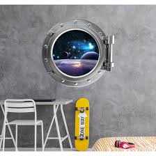 Shop Spaceship Porthole Window Wall Mural Outer Space View Decal Overstock 31515519