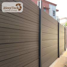 China Mexytech Three Color Option Wpc Panels Composting Wood Fence Aluminum Fencing With Privacy Design On Sale China Mexytech Removable Fence Manufacture