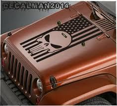 Auto Parts And Vehicles Vinyl Hood Decal For Jeep Wrangler Blackout Jk Jku Lj Tj Punisher American Flag Car Truck Graphics Decals Filtrostsd Com Ar