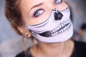 half skeleton makeup easy saubhaya makeup