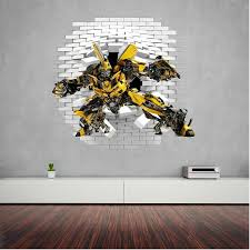 Bumblebee Transformers Wall Decal Wall Decals Kid Room Decor Wall Decals And Stickers