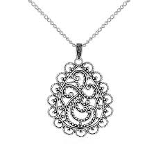 large antique silver filigree
