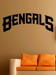 Amazon Com Cincinnati Bengals Logo Wall Vinyl Decals American Football Logotype Game Team Vinyl Decals Vinyl Murals Stickers Il1154 Home Kitchen