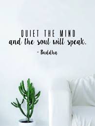 quiet the mind buddha soul quote decal sticker wall vinyl art