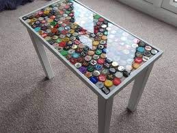 man collects bottle caps for a year