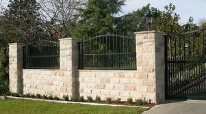 Resultado De Imagen Para Boundary Wall Design House Gate Design Gate Wall Design Gate Design
