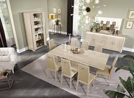 Glossy Beige Finish Dining Room Set W Buffet 10pcs Modern Made In Italy Esf Dover Dover Set 10 Buy Online