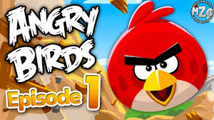 Angry Birds Gameplay Walkthrough Part 1 - Poached Eggs Levels 1-1 ...