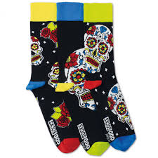 United Oddsocks 3 Wesley Skull Socks @ Flamingo gifts