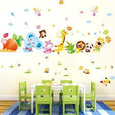 China Pvc Cartoon Wall Sticker Kids Room Nursery School China Wall Paper And Decoration Price