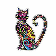 Buy Meganjdesigns Cat Sticker Car Decal Laptop Decal Bumper Sticker Colorful Flowers Hippie Boho Cute Car Decal Pet Animal Kitten Floral Wall Decal Girly Art In Cheap Price On M Alibaba Com