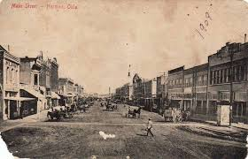 downtown norman oklahoma 1909 looking