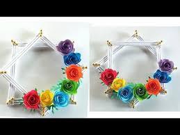 paper rose flower craft paper flower