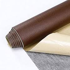 self adhesive leather pu fabric