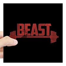 Cafepress Beast Red Square Sticker 3 Buy Online In Albania At Desertcart