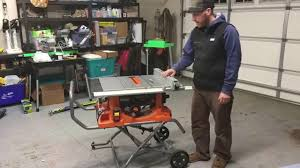 Rigid R4513 Tablesaw Unboxing Assembly And Features Youtube