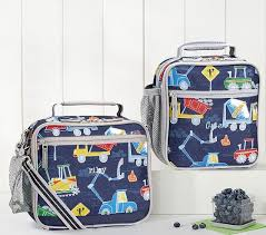 play construction kids lunch box