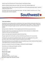 southwest airlines single use promo