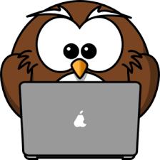 Owl Using A Laptop PNG, SVG Clip art for Web - Download Clip Art ...