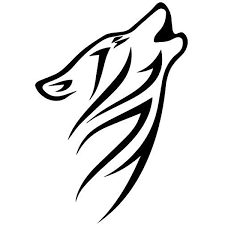 Amazon Com Tribal Wolf Howling Decal Sticker Black Decal Sticker Vinyl Car Home Truck Window Laptop Computers Accessories