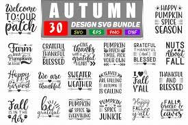 autumn quotes svg bundle autumn t shirt design by teewinkle