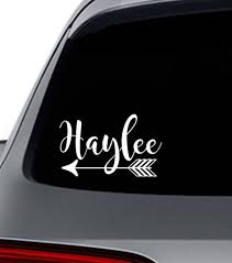 Car Name Decal Custom Bumper Sticker Personalized With Your Etsy