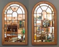 georgian arched window pane mirrors