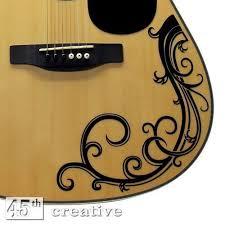 Acoustic Guitar Vine Decal Full Size Dreadnought Acoustic Guitar Vinyl Graphic Vine Decal Acoustic Guitar Guitar