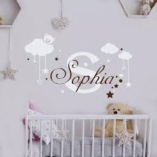 Cloud Stars Vinyl Wall Sticker For Kids Room Decoration Personalized Custom Name Wall Decal Nursery Bedroom Decor Poster Gy013 Decoration Murale Name Wall Stickerswall Sticker Aliexpress