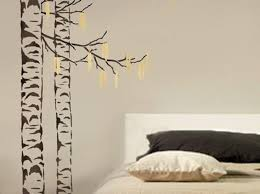 aspen tree wall stencil flowers decal