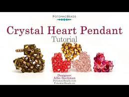 make a crystal heart pendant diy