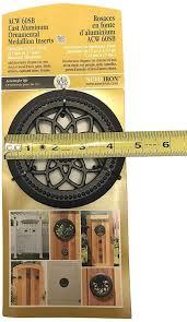 Doors Nuvo Iron Round Single Board Acw 60sb Ornamental Medallion Insert Fence Gates