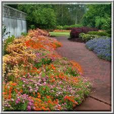 flower beds in mercer arboretum