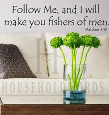 Follow Me And I Will Make You Fishers Of Men Vinyl Wall Decal Etsy