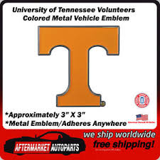 University Of Tennessee Volunteers Colored Metal Car Auto Emblem Decal 842281122534 Ebay