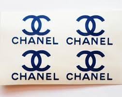 10 Chanel Stickers Chanel Decals Designer Decal Designer Logo Chanel Stickers Chanel Decor Glitter Picture Frames